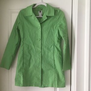 Light green trench coat xs gap